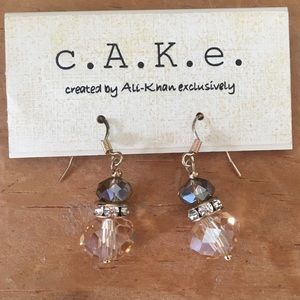 NWT Cake Beaded Drop Earrings